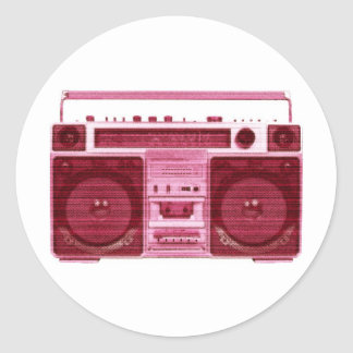 pegatina de radio retro