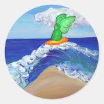 Pegatina de Raphael del ángel que practica surf