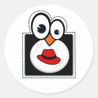 Pegatina de Redhat del pingüino de Linux