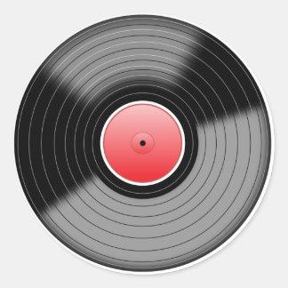 Pegatina de registro de LP del vinilo clásico