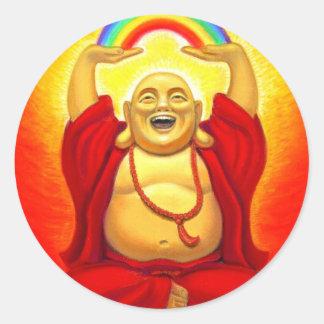 Pegatina de risa de Buda