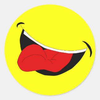 Pegatina de risa de la boca
