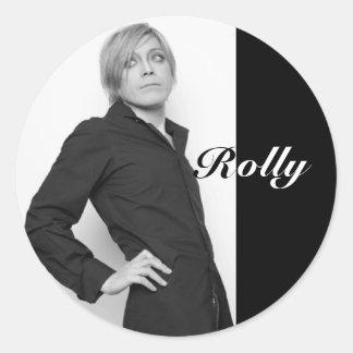 Pegatina de Rolly B&W