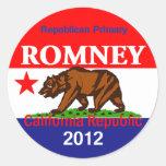 Pegatina de Romney CALIFORNIA