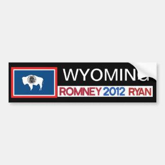 Pegatina de Romney del país de WYOMING Romney Ryan Pegatina Para Auto