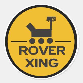 Pegatina de Rover Xing de la curiosidad