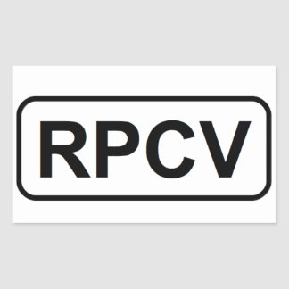 Pegatina de RPCV