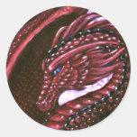 Pegatina de rubíes del dragón