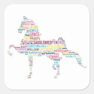 Pegatina de Saddlebred