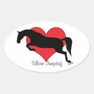 Pegatina de salto del óvalo del amor