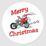Pegatina de Santa de la motocicleta