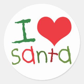 Pegatina de Santa del amor de los niños I