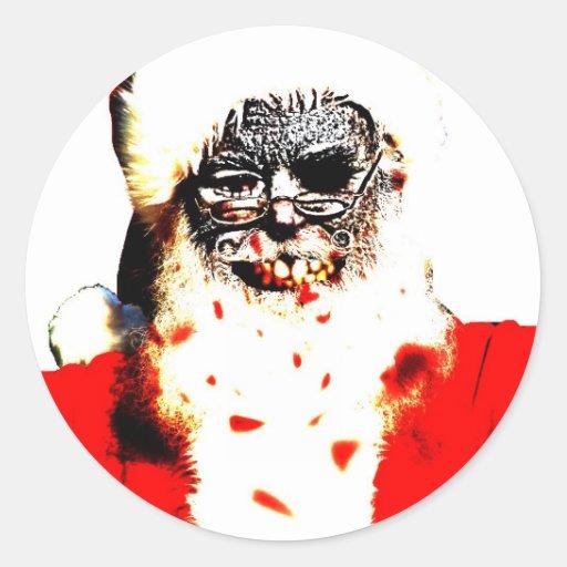 Pegatina de Santa del zombi