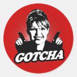 Pegatina de Sarah Palin Gotcha