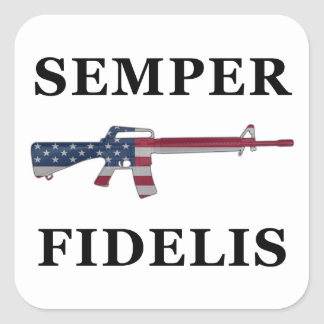 Pegatina de Semper Fidelis M16