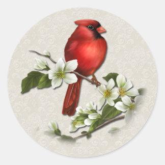 Pegatina de sexo masculino del cardenal y del