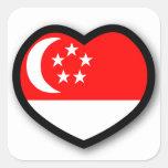 Pegatina de Singapur del corazón