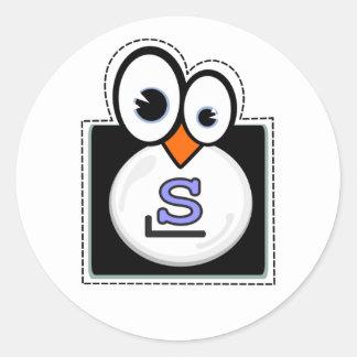 Pegatina de Slackware del pingüino de Linux