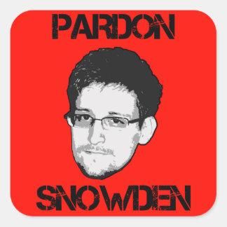 Pegatina de Snowden del perdón