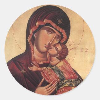 Pegatina de St Mary y de Jesús