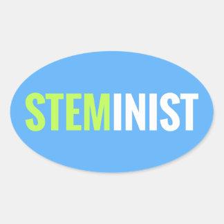 Pegatina de STEMinist - óvalo