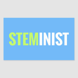 Pegatina de STEMinist - rectángulo