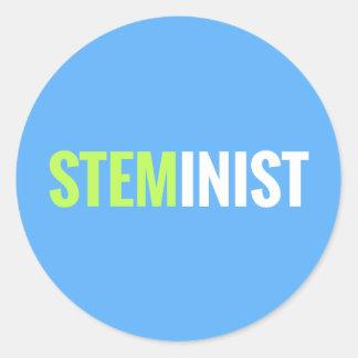Pegatina de STEMinist - redondo