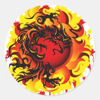 Pegatina de Sun del dragón