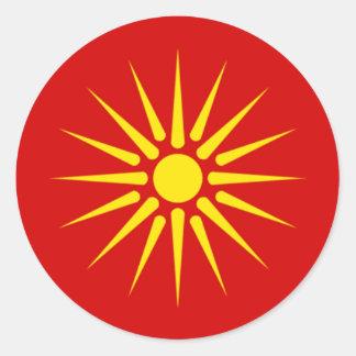 Pegatina de Sun del macedonio
