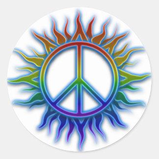Pegatina de Sun del signo de la paz