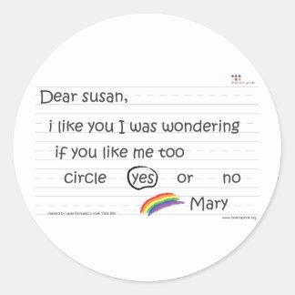Pegatina de Susan pequeño