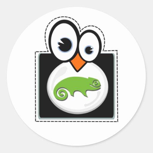 Pegatina de Suse del pingüino de Linux