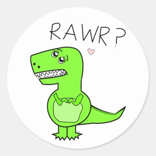 Pegatina de T-Rex