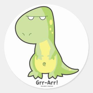 Pegatina de T-Rex Grr Arr