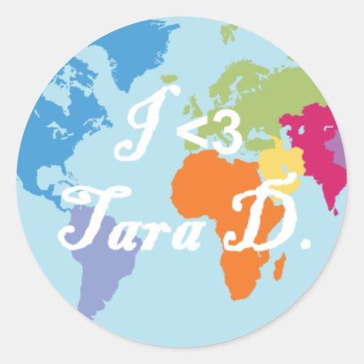 Pegatina de Tara D
