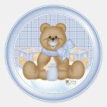 Pegatina de Teddybear de la hora de acostarse