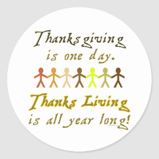 Pegatina de ThanksLiving