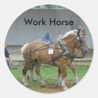 Pegatina de trabajo de los caballos