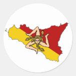 Pegatina de Trinacria de la bandera de Sicilia