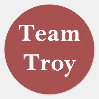 Pegatina de Troy del equipo