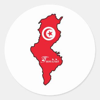 Pegatina de Túnez