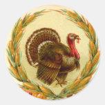 Pegatina de Turquía de la acción de gracias del vi