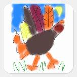 Pegatina de Turquía de la mano