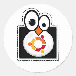 Pegatina de Ubuntu del pingüino de Linux