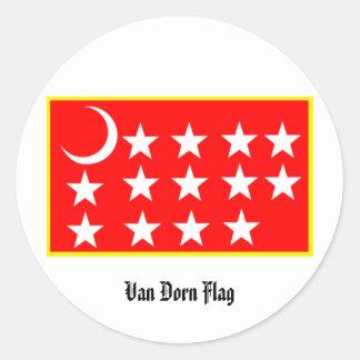 Pegatina de Van Dorn Flag