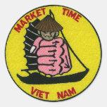 Pegatina de Vietnam del tiempo del mercado