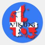 Pegatina de Viking del danés