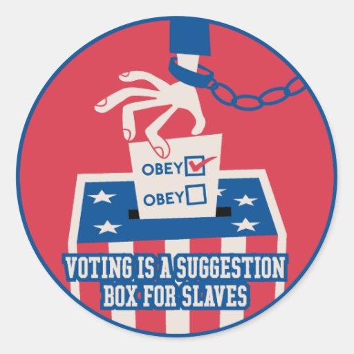 Pegatina de votación