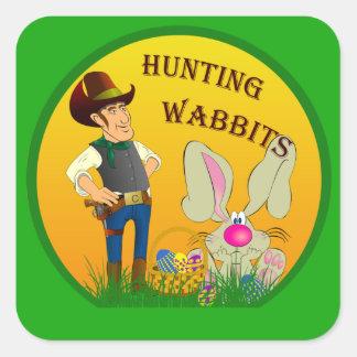 Pegatina de Wabbits Pascua de la caza