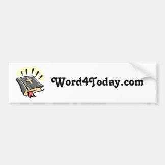 pegatina de Word4Today.com Pegatina Para Auto